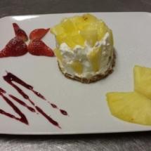 Cheesecake-ananas