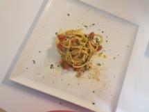 Spaghetti con alici fresche e bottarga2