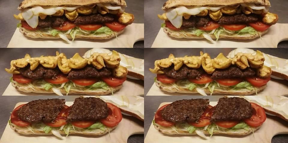 panuozzo con hamburger di Chianina IGP