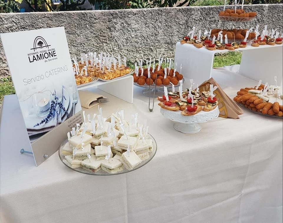 Catering per ricevimento di nozze in villa